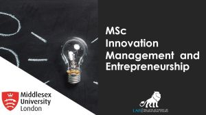 MSc Innovation Management and Entrepreneurship
