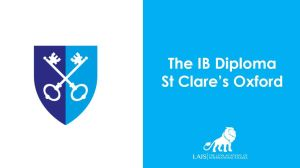The IB Diploma at St clare's Oxford