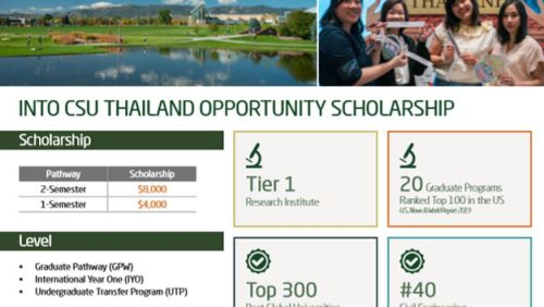 INTO CSU THAILAND OPPORTUNITY SCHOLARSHIP