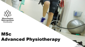 MSc Advanced Physiotherapy