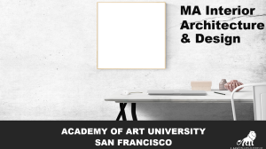 MA Interior Architecture & Design