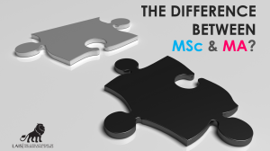 ความแตกต่างระหว่าง MSc and MA