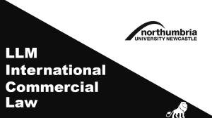 LLM International Commercial Law