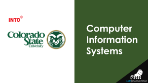 Master of Computer Information Systems