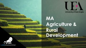 MA Agriculture and Rural Development