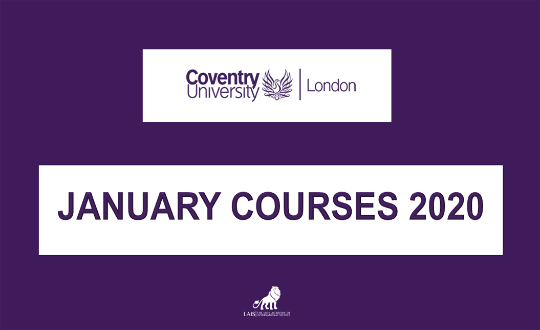 Coventry University London for January 2020 courses